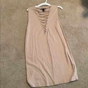 Tan Forever 21 dress